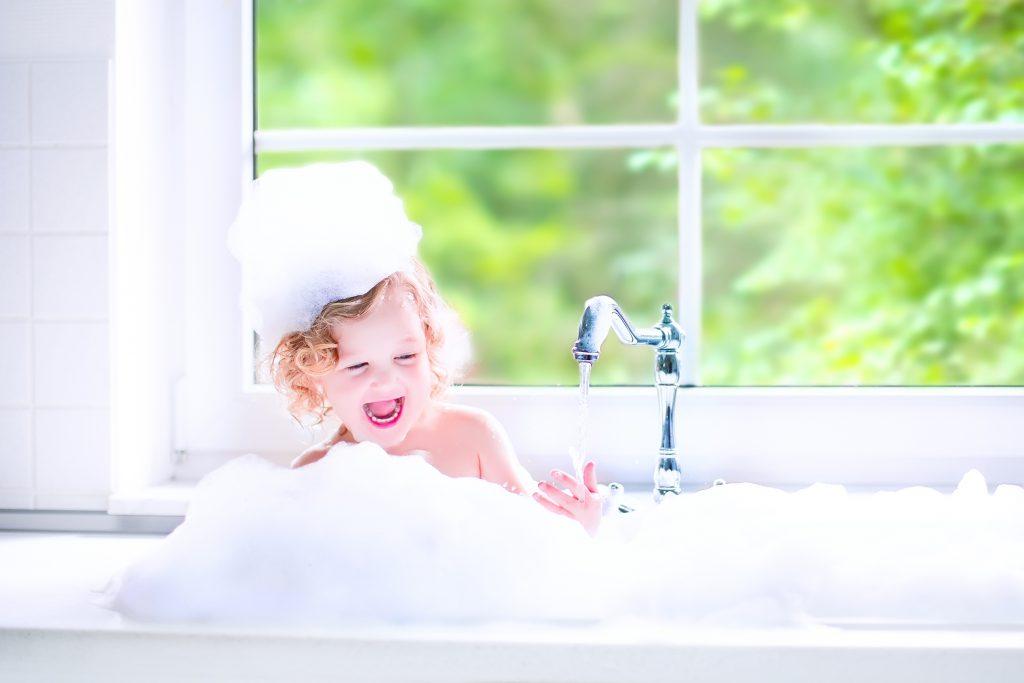 kúpanie dieťaťa